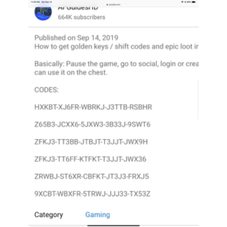 Borderlands 3 Golden Key Codes