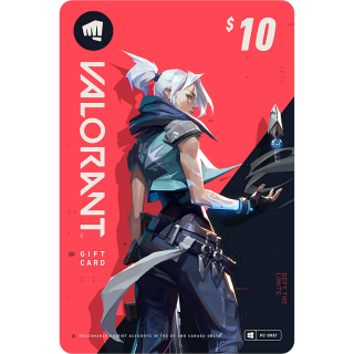 $10 VALORANT Gift Card - PC (Online Game Code)