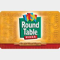 $25.00 Round Table Pizza Gift Card with PIN