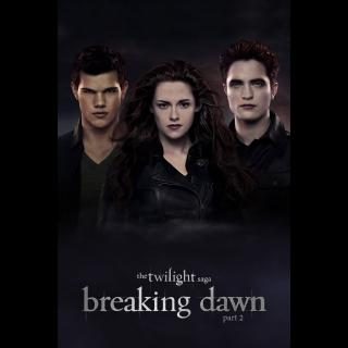 The Twilight Saga: Breaking Dawn - Part 2 @@ VUDU code @@