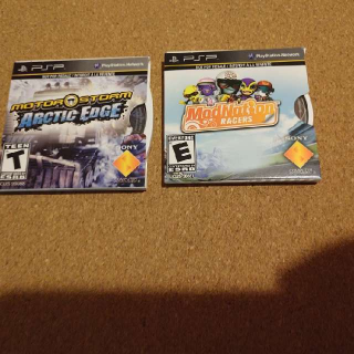 Modnation Racers And Motor Storm PSP