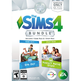 The Sims 4 Bundle Spa Day & Perfect Patio Stuff Expansion Pack 1 Origin PC key