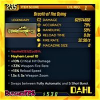 Weapon | ❗MOD❗Breath of the Dying