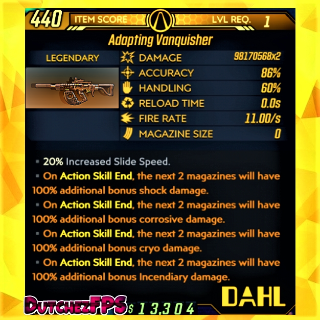 Weapon   ❗MOD❗ Vanquisher LVL 1