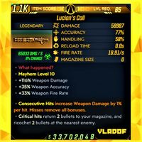 Weapon | ❗MOD❗ Lucian's Call ☣️65