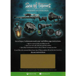 (INSTANT) Sea of Thieves Obsidian Six Item Pack