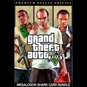 (retail price $120) Grand Theft Auto V: Premium Online Edition & Megalodon Shark Card Bundle