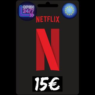 15€ Netflix GiftCard 📺