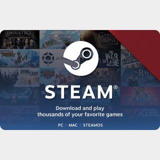 Steam Gift Card GLOBAL $5 USD Steam Key