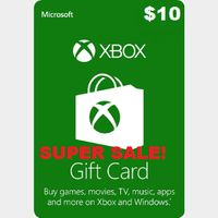 Xbox Live $10 USA Gift Card Points USD Dollars For Microsoft Xbox 360 / Xbox One AUTOMATIC DELIVERY