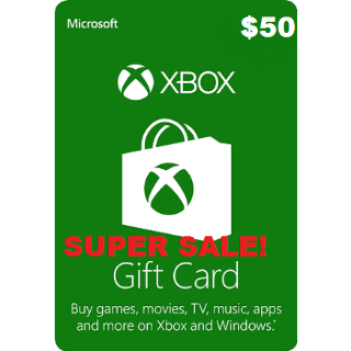 Xbox Live $50 USA Gift Card Points USD Dollars For Microsoft Xbox 360 / Xbox One AUTOMATIC DELIVERY