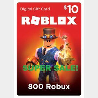$10.00 USD DOLLARS Roblox Gift Card