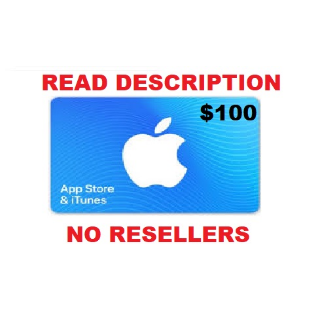 Apple iTunes Gift Card NORTH AMERICA 100 USD iTunes United States