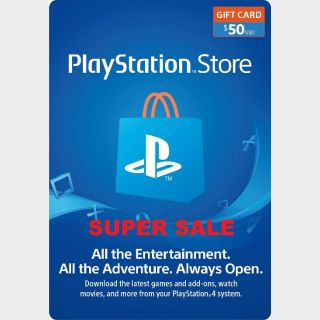 PlayStation Network Gift Card $50 USD PSN UNITED STATES