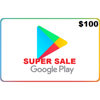 Google Play Gift Card $100 USD NORTH AMERICA