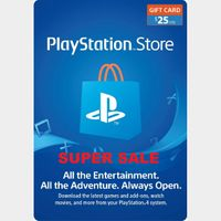 PlayStation Network Gift Card $25 USD PSN UNITED STATES