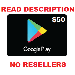 Google Play Gift Card $50 USD NORTH AMERICA *NEW DESCRIPTION*
