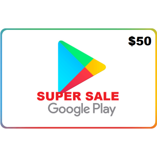 Google Play Gift Card $50 USD NORTH AMERICA