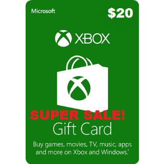 Xbox Live $20 USA Gift Card Points USD Dollars For Microsoft Xbox 360 / Xbox One AUTOMATIC DELIVERY