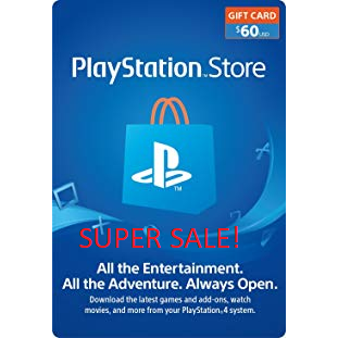 PlayStation Network Gift Card $60 USD PSN UNITED STATES