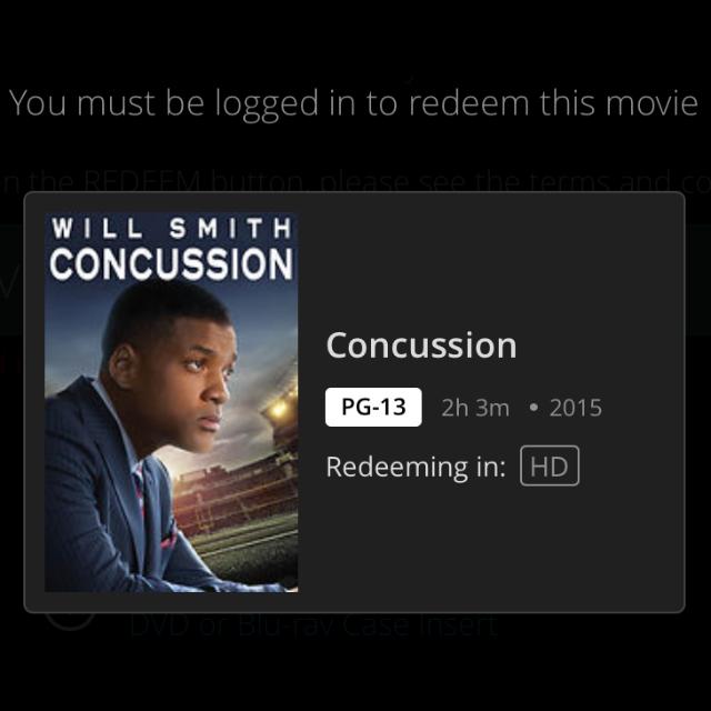 Concussion HD MA Code