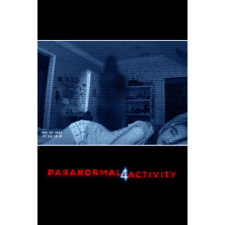 Paranormal Activity 4 HD iTunes Code Only