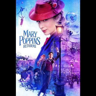 Mary Poppins Returns HD Google Play Code