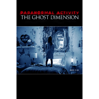 Paranormal Activity: The Ghost Dimension HD iTunes Code Only
