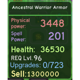 Other | DQ|Ancestral Warrior Arm