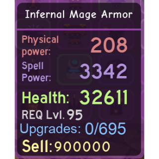 Other | DQ|Infernal Mage Armor
