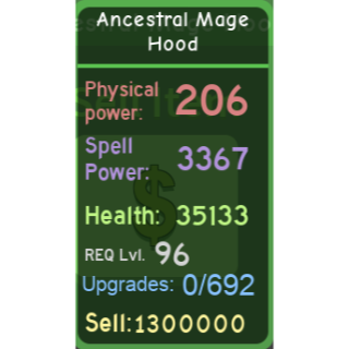 Other | DQ|Ancestral Mage Hood