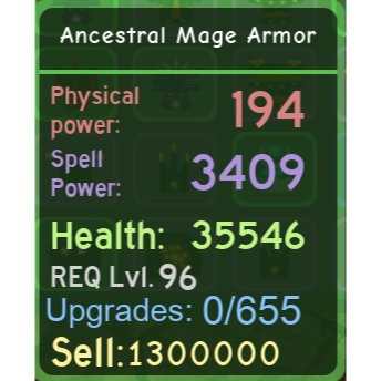 Other | DQ|Ancestral Mage Armor