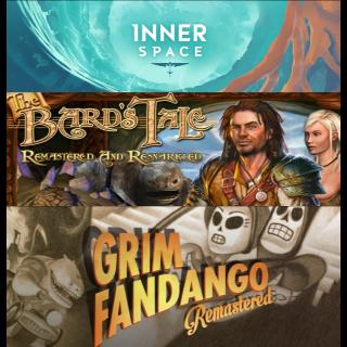 InnerSpace + The Bard's Tale + Grim Fandango (Playstation 4 bundle key)