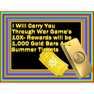 I will Carry You Through War Games 10x