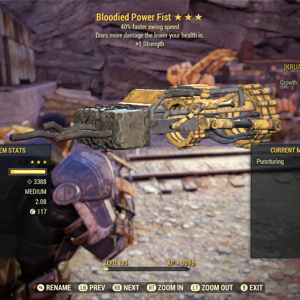 Weapon   3* Bloodied Power Fist