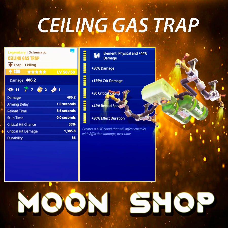 Ceiling Gas Trap| x2000