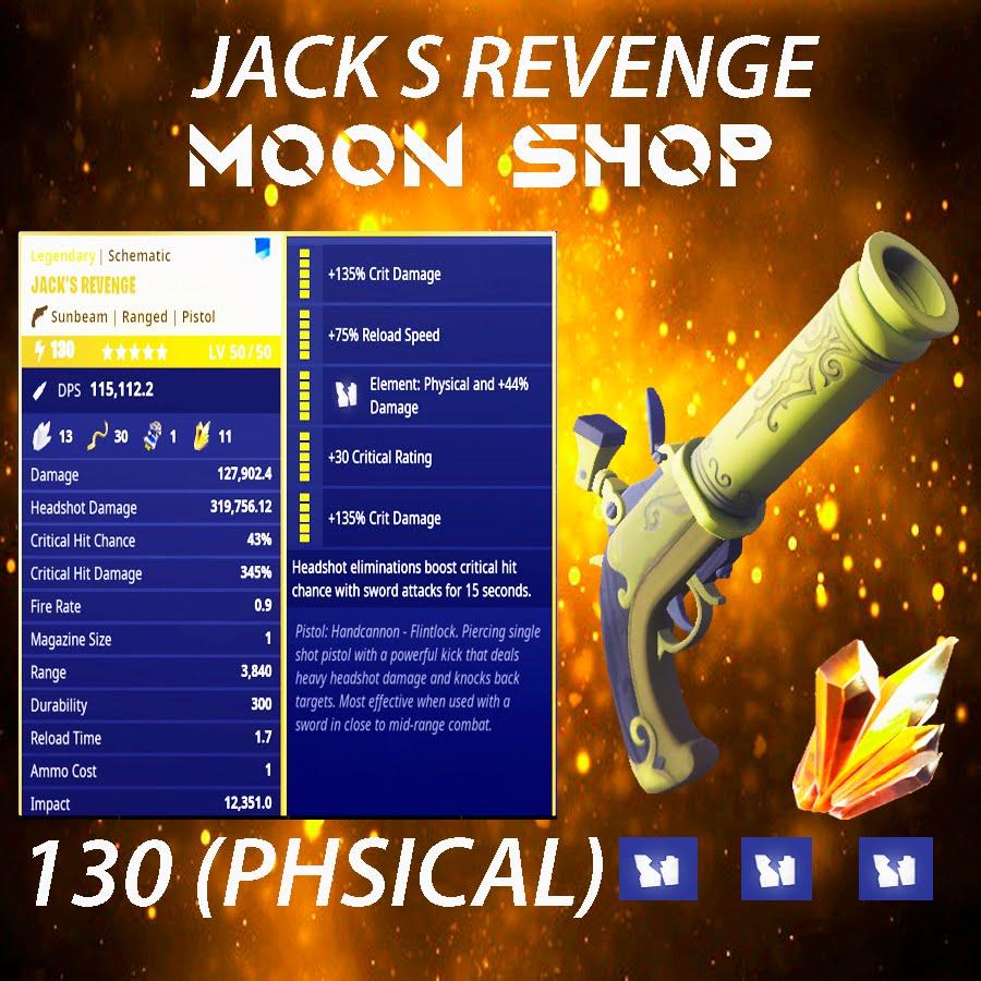 Jack's Revenge   x10 130  FULL PERK