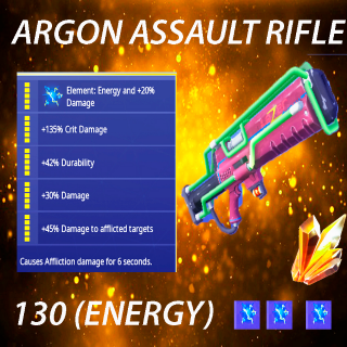 Argon Assault Rifle | 5x 130 full  perk
