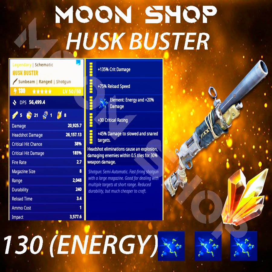 Husk Buster  x15  130 FULL PERK
