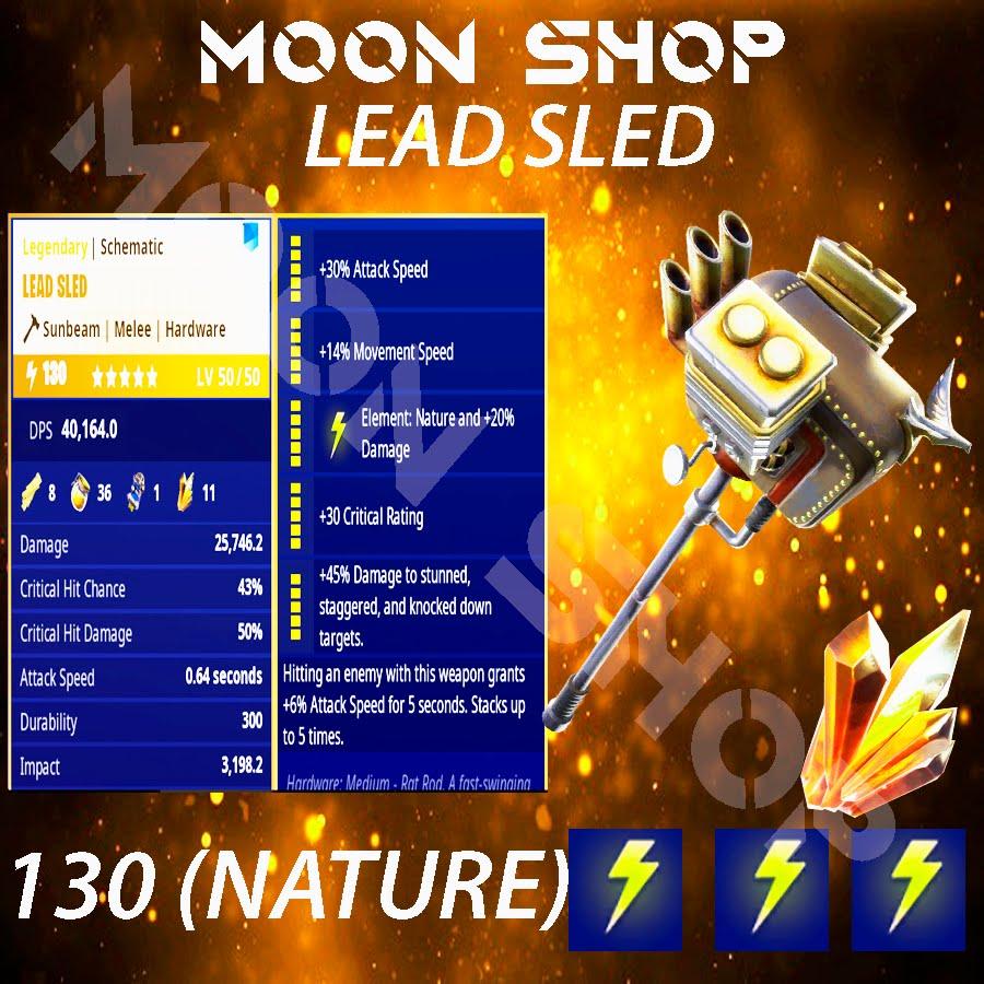 Lead sled hammer   x10  130 FULL PERK ⚡️