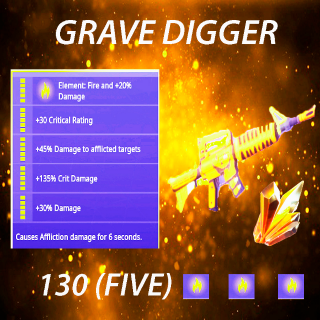 Grave Digger | x 10 130 FULL PERK