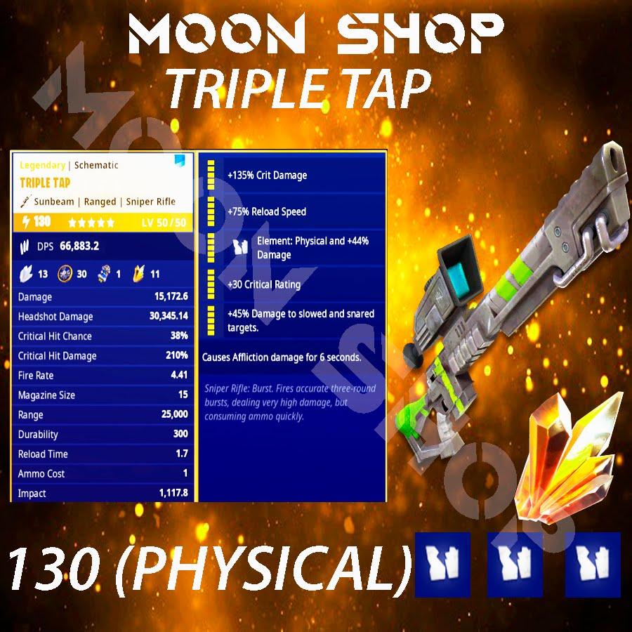 Bundle  triple tap x10 130 FULL PERK