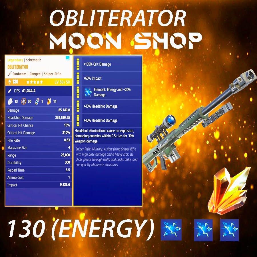 Obliterator   x10  130 FULL PERK