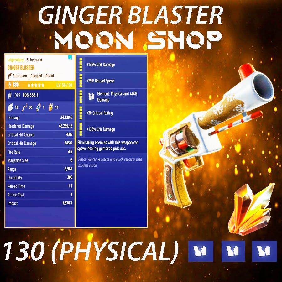 Ginger Blaster Pistol   x10 130  FULL PERK