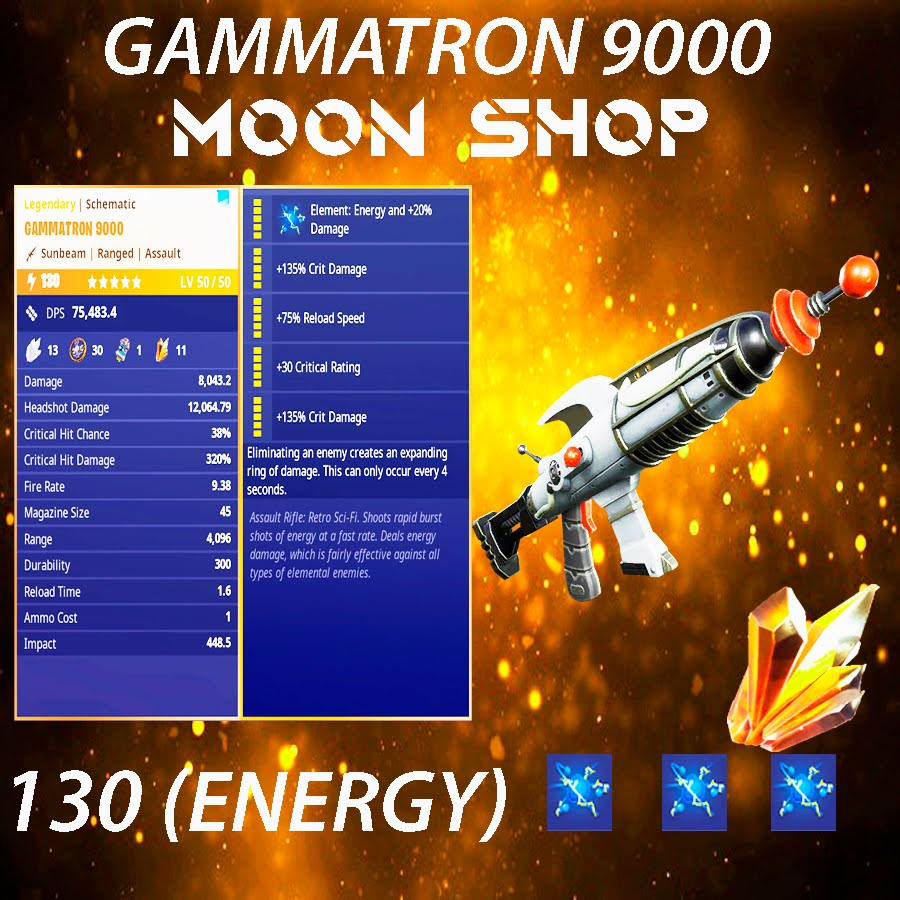 Gammatron 9000   x10 130  FULL PERK