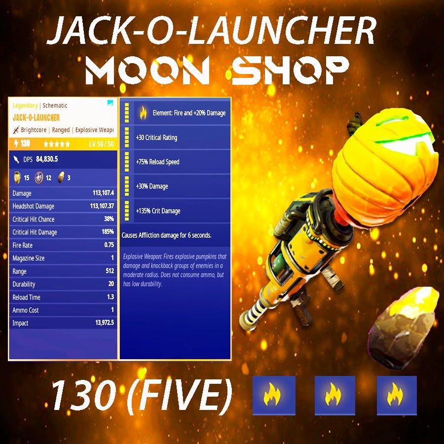 Jack O Launcher    x25 130 FULL PERK