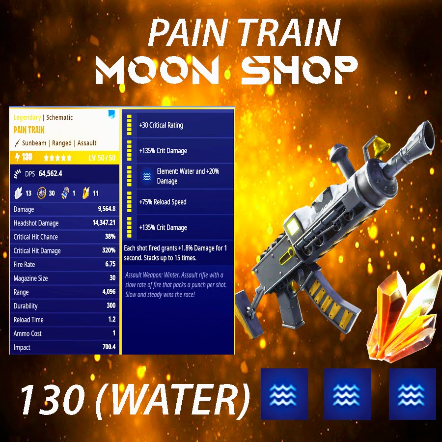 Pain Train Assault Rifle   x15 130 FULL PERK 💦