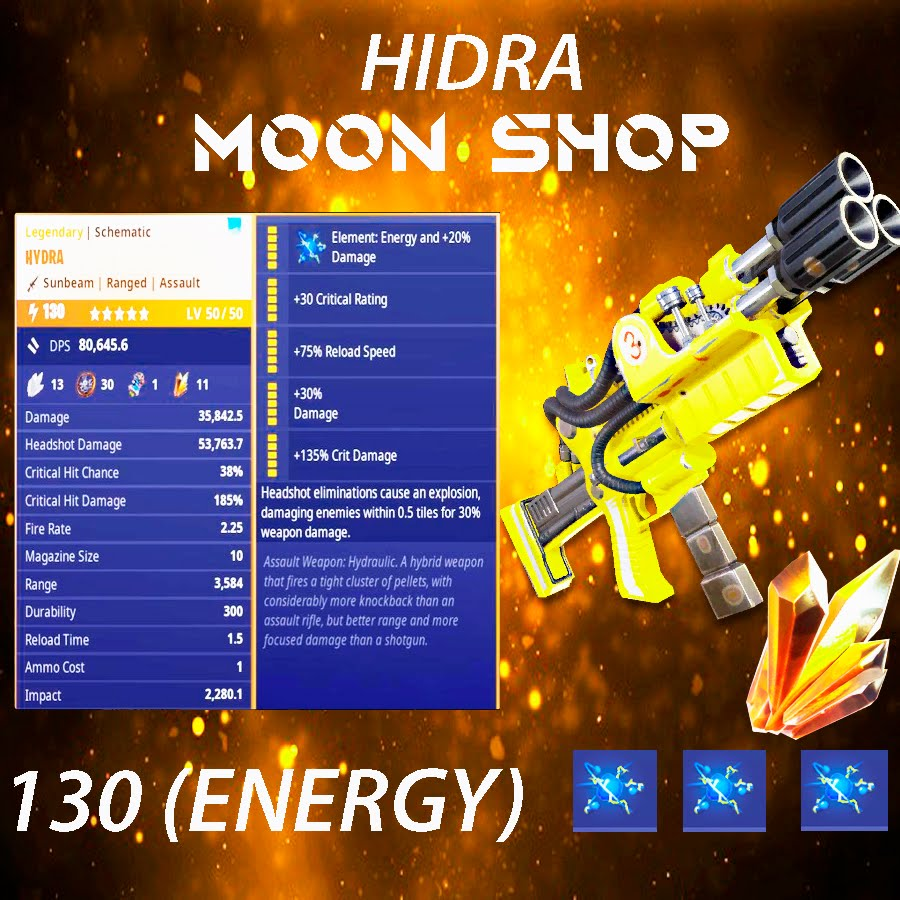 Hydra   x10 130  FULL PERK