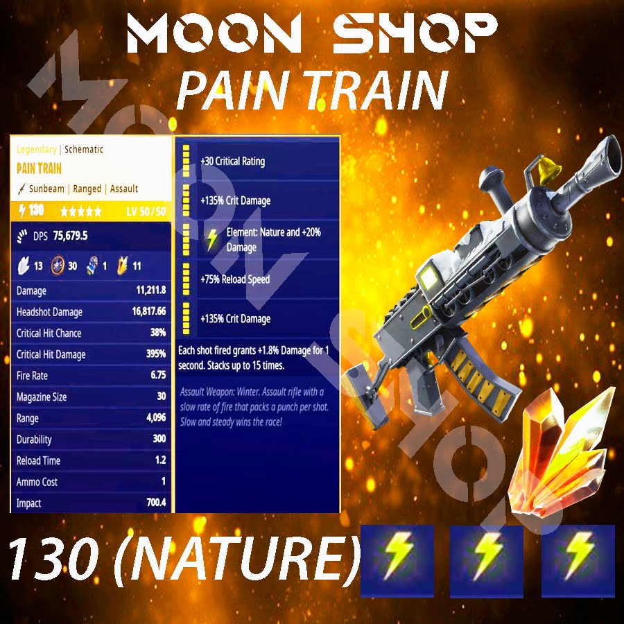 Pain Train Assault Rifle | x10 130 FULL PERK ⚡️