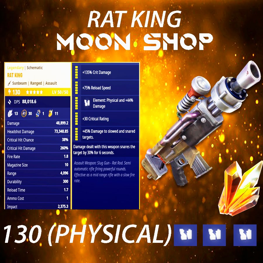 Rat King   x15  130 FULL PERK
